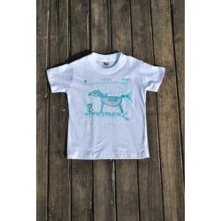 Originálne tričko ručne maľované LILI