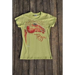 Originálne tričko ručne maľované TESA