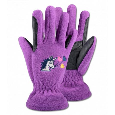Jazdecké detské rukavice Jednorožec