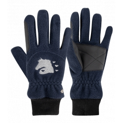 Jazdecké fleecové rukavice Lucky Giselle , deti